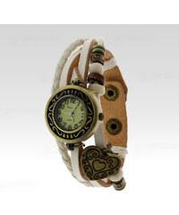 Wayfarer Analogové hodinky Leather srdce bílé