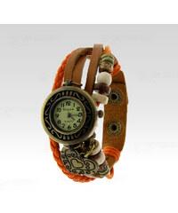 Wayfarer Analogové hodinky Leather srdce oranžové
