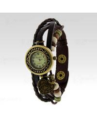 Wayfarer Analogové hodinky Leather srdce hnědé