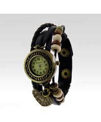 Wayfarer Analogové hodinky Leather srdce černé