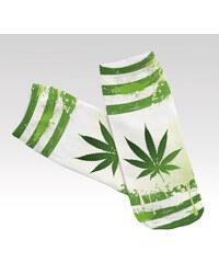 Wayfarer ponožky Marijuana strip zelené