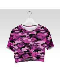 Wayfarer Crop-top tričko Army růžový