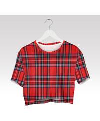 Wayfarer Crop-top tričko Krata red