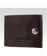 Wobu Jeans Kožená peněženka Wobu hnědá