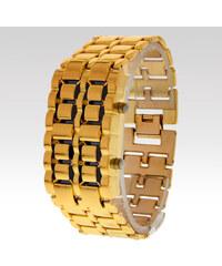 Wayfarer LED hodinky Samurai zlaté