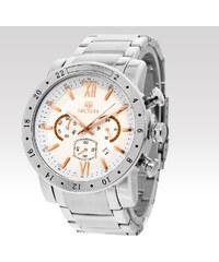 Pánské analogové hodinky Megir Strict stříbrné