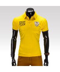 Ombre clothing pánské tričko Fearless žluté S