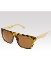VeyRey dřevěné sluneční brýle Acacia leopard