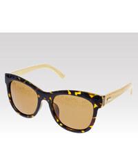 VeyRey dřevěné sluneční polarizační brýle Hazel leopard
