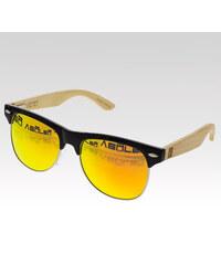 VeyRey dřevěné sluneční polarizační brýle Hyalos oranžová skla.