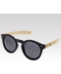 VeyRey dřevěné sluneční polarizační brýle Sycamore černá skla.