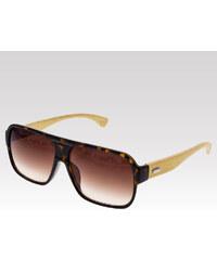 VeyRey dřevěné sluneční polarizační brýle Pine leopard