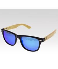 VeyRey dřevěné sluneční polarizační brýle Conifer modrá skla.