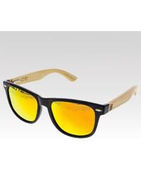 VeyRey dřevěné sluneční polarizační brýle Conifer červená skla.