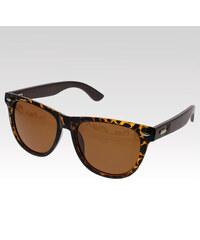 VeyRey dřevěné sluneční polarizační brýle Log hnědá skla.