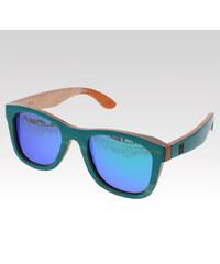 VeyRey dřevěné sluneční polarizační brýle Metasequoia tyrkysové