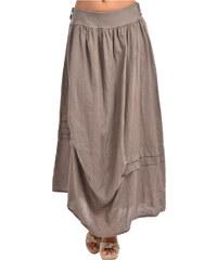 Couleur Lin Dámská sukně JUPE RYAD K16006 TAUPE