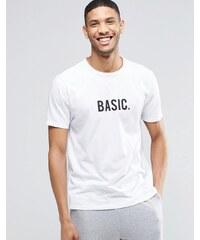 ASOS Loungewear - Basic - T-shirt à imprimé - Blanc