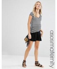 ASOS Maternity - Shorts mit Falten - Schwarz
