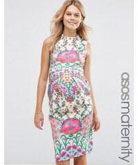 ASOS Maternity - Robe fourreau à fleurs - Multi