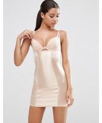 ASOS SHAPEWEAR - Hochglänzendes, formendes Kleid - Wear Your Own Bra - Beige