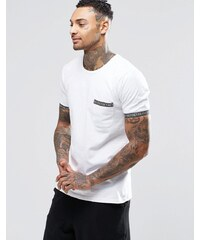 Mambo - T-Shirt mit Streifen auf der Tasche - Weiß