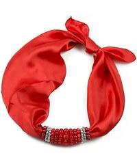 Jablonec Šátek s bižuterií Letuška 299let001-20b - červený