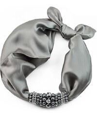 Jablonec Šátek s bižuterií Letuška 299let001-71 - šedý
