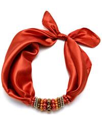 Jablonec Šátek s bižuterií Letuška 299let001-11a - oranžový jednobarevný