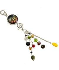 Jablonec Klíčenka - přívěsek na kabelku pr004-70.52 - zelenočerná