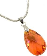 Bijoux Me Přívěsek Swarovski Elements Pear 339akt6106-22-11 - oranžový