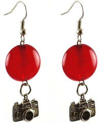 Bijoux Me Náušnice s filigránů 22bm002-20 - červené s figurkami