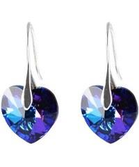 Bijoux Me Náušnice Swarovski Elements Srdce Xilion 713akt6228-14-30ab - modré