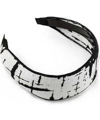 Čelenka cel01.70 - bílá s černým vzorem