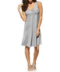 Rick Cardona Dámské letní šaty s hlubokým výstřihem šedé