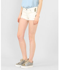 Short denim patch blanc, Femme, Taille 38 -PIMKIE- MODE FEMME