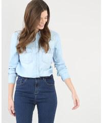 Chemise en jean bleu, Femme, Taille 34 -PIMKIE- MODE FEMME