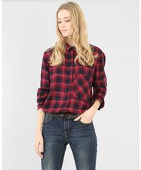 Chemise à carreaux framboise, Femme, Taille L -PIMKIE- MODE FEMME