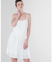 Robe volant macramé blanc cassé, Femme, Taille S -PIMKIE- MODE FEMME