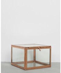 Boîte carrée (11 x 11) en verre et métal cuivré - hauteur 7,5 cm - PIMKIE, Décoration d'intérieur