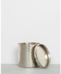 Pot métallique à couvercle gris argenté, Femme, Taille 00 -PIMKIE- MODE FEMME