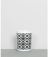 Bougie parfumée - couleur blanc - print ethnique noir - hauteur 8,5 cm - PIMKIE, Décoration d'intérieur