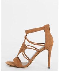 Sandales à talons marron, Femme, Taille 36 -PIMKIE- MODE FEMME