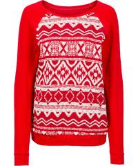 RAINBOW Sweatshirt langarm in rot (Rundhals) für Damen von bonprix