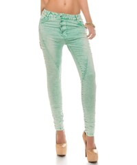 Koucla Moderní skinny džíny-mentolové