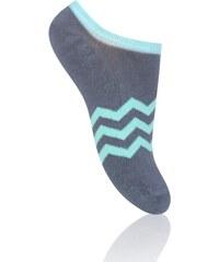 STEVEN Dětské nízké ponožky s proužky - tmavě šedé