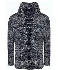 CRSM Tmavě modrý pánský svetr s výstřihem do V