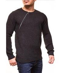 CRSM Pánský svetr zdobený zipem
