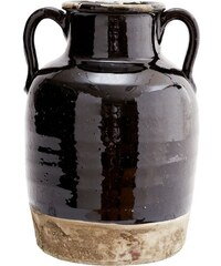 Madam Stoltz Amfora Terracotta Brown/black