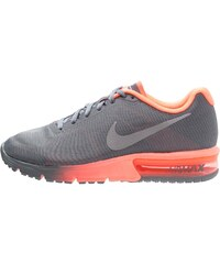Nike Performance AIR MAX SEQUENT Laufschuh Neutral cool grey/metallic silver/bright mango